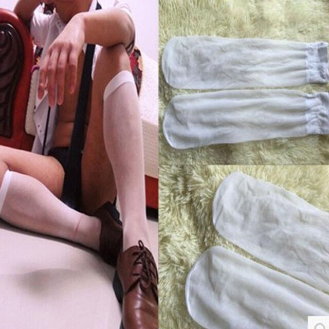 Sexy Men's Summer High Quality Sheer Nylon Silk Stockings Transparent