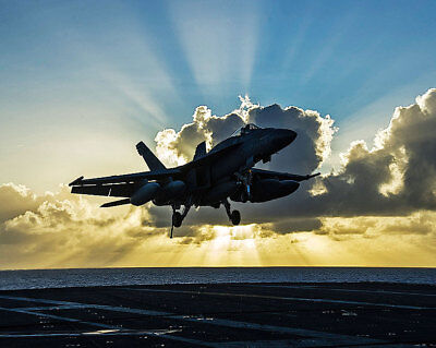 Collectibles Reliable F/a-18e Super Hornet On Uss George Washington 11x14 Silver Halide Photo Print Up-To-Date Styling Transportation