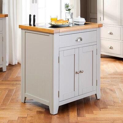 Downton Grey Painted Small Kitchen Island Granite Butchers Block Dt39 New Ebay