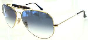 67e1991fb RAY BAN 3029 62 OUTDOORSMAN II GOLD HAVANA LENS BLUE GRADIENT REMIX ...