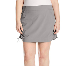 Columbia Womens Anytime Casual Skort Plus Skirt w  Attached Shorts Light Grey