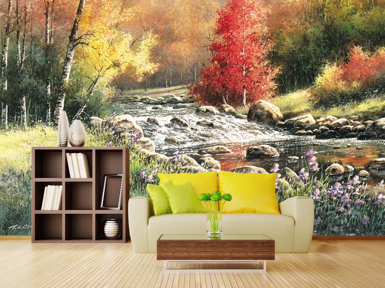 3D Wald Stein Garten 87 Tapete Wandgemälde Tapete Tapeten Bild Familie DE Lemon