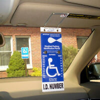 Visortag Vertical - Handicapped Placard Protector Made Of Hard Plastic Material
