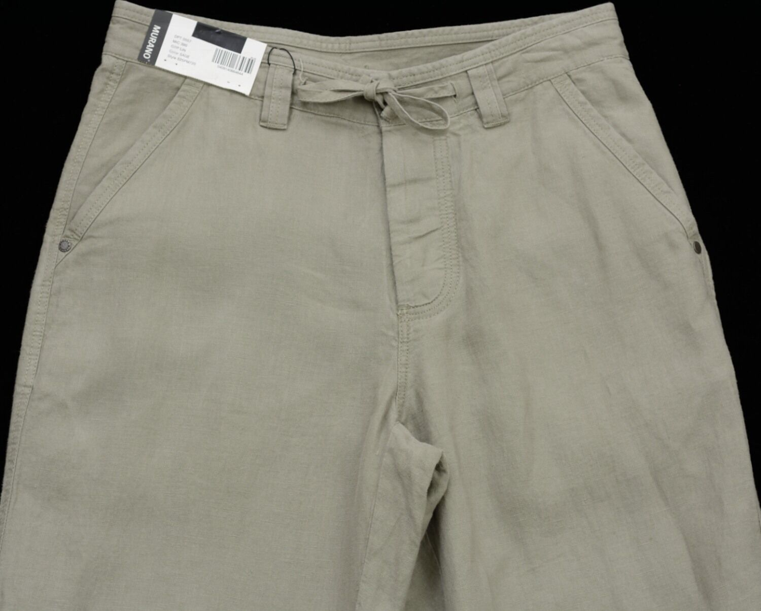 Men's MURANO Sage Green LINEN Drawstring Pants 30x30 NEW NWT Classic  HOT