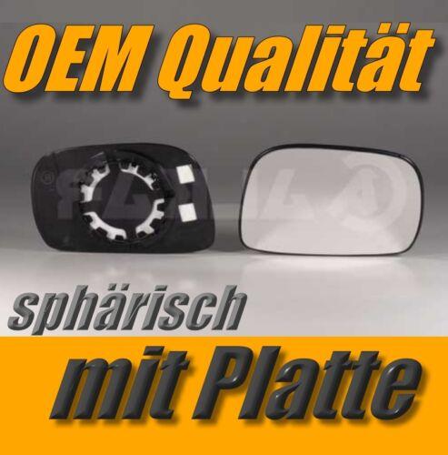 spiegelglas OPEL AGILA 00-07 rechts konvex außenspiegel beifahrerseite