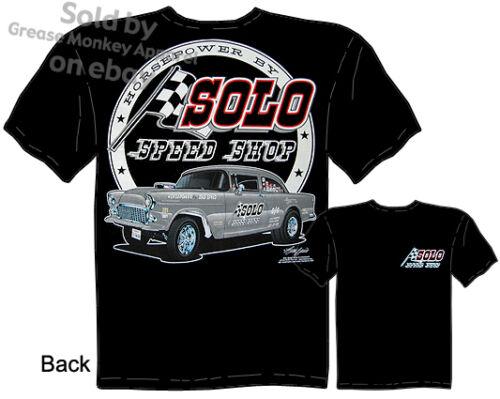 55 Chevy Tshirt Solo Speed Shop 1955 Chevrolet Apparel Hot Rod Shirt Gasser Drag