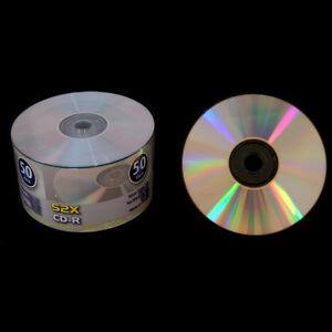 100-Grade-A-52X-Shiny-Silver-Top-Blank-CD-R-CDR-Disc-Media-700MB
