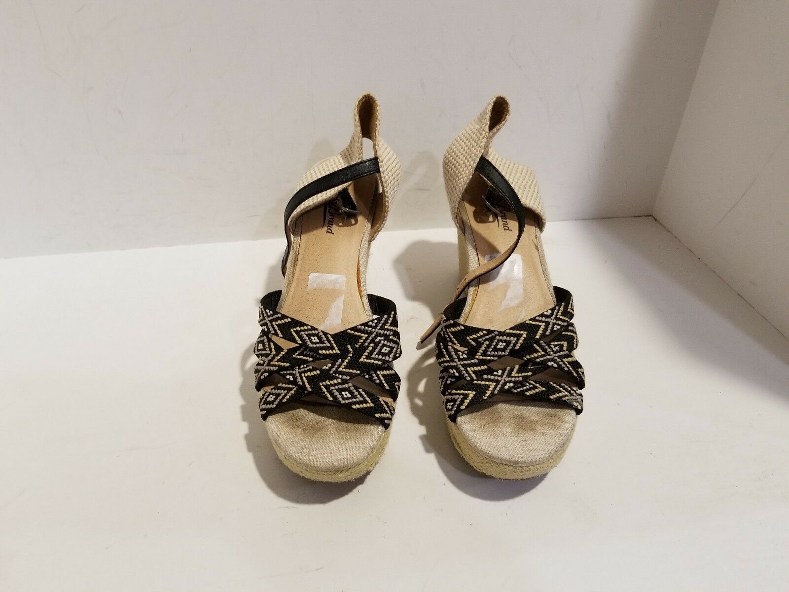 Lucky Wedge Womens Multi Color Wedge Lucky Sandals Size 7.5 M 4ca156
