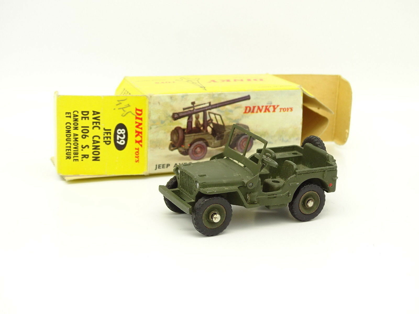 Dinky Toys France Militaire 1 43 - Jeep Willys 829