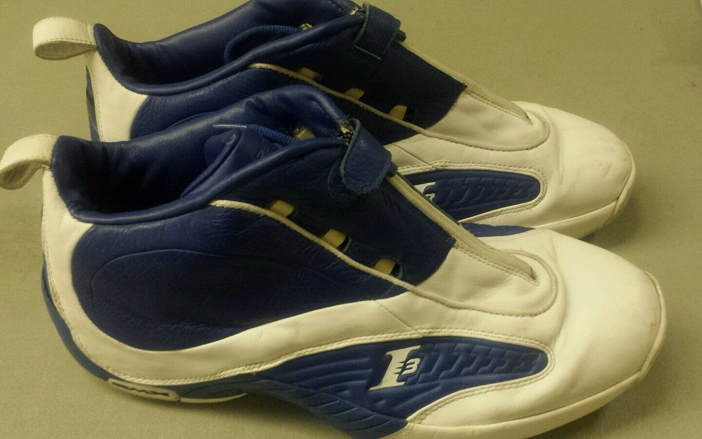Uomo Reebok Allen Iverson I3 Basketball Athletic Athletic Athletic scarpe Dimensione 15 blu bianca 8921d3