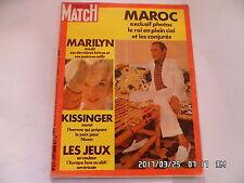 PARIS MATCH N°1217 02/09/1972 MARILYN MONROE JEUX DE MUNICH KISSINGER       H49