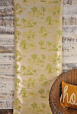 5 ROLL LOT Carey Lind Designer Chic Scenic Toile Wallpaper Green Tan Gold
