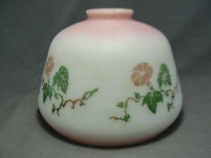 Vintage-Satin-White-Pink-Morning-Glory-Glass-Light-Lamp-Shade-7-034-W-X-5-034-H