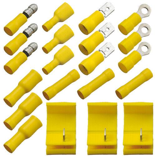 Assortiment Connecteurs 21 pièces JAUNE 4,0-6,0 mm Carré coupleurs Câble Connecteur
