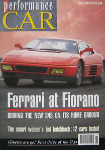 Performance-Car-01-1990-featuring-Ferrari-348-Ginetta-G32-Dax-40-Vauxhall