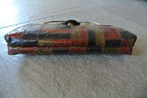 Soirée Main Serpent Snake Patchwork Handbag Pochette Véritable Vintage Sac Cuir faw6O7qWW
