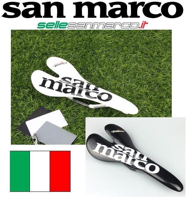 SELLA SAN MARCO ASPIDE SUPER LEGGERA FULL FIBRA DI CARBONIO  BICI CORSA MTB 98gr