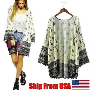 Fashion-Women-Giraffe-Pattern-Printed-Kimono-Cardigan-Blouse-Tops-Beach-Cover-Up