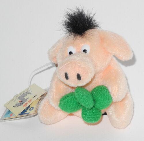 Neuware Schlüsselanhänger Uli Stein Schwein mit Kleeblatt