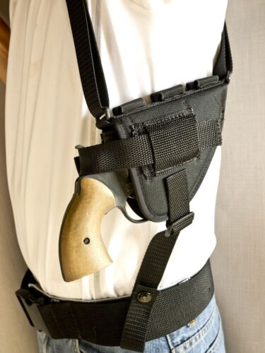 """Colt Lawman MKIII 2/""""Horizontal Shoulder Holster with Ammo Loops"""