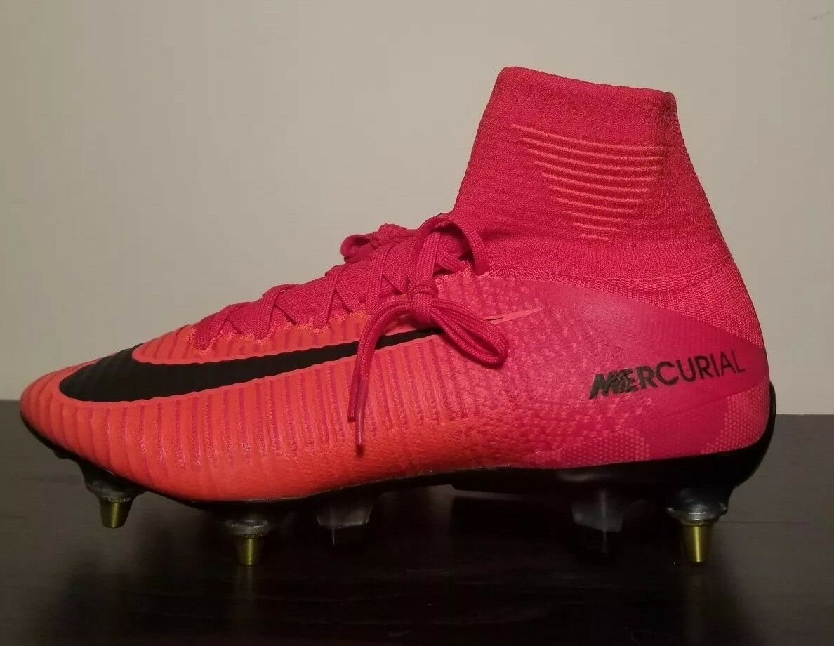 NIKE MERCURIAL SUPERFLY V DF SG PRO AC  ANTI CLOG  UNI RED SIZE 8 [889286-616]