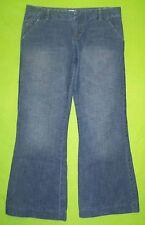 Calvin Klein Wide Leg sz 29 Short Womens Blue Jeans Denim Pants FS53