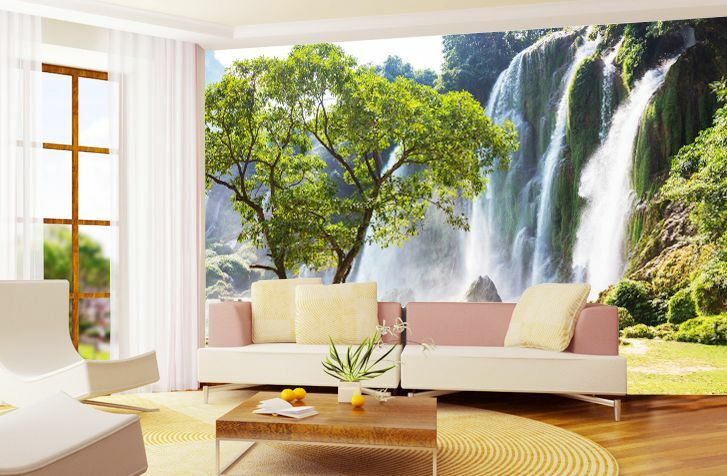 3D Rapid Falling Waterfall Wallpaper Decal Decor Home Kids Nursery Mural  Home