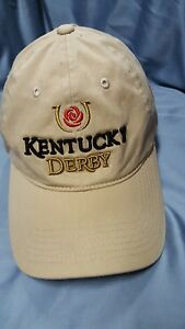 KENTUCKY DERBY Main Gate Baseball hat cap Beige One Size Horse racing b8
