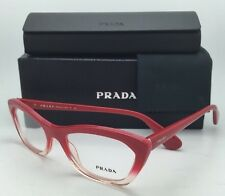 New PRADA Eyeglasses VPR 03Q PDO-1O1 Red-Pink fade to Transparent Cat-Eye Frame