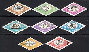 Romania-1964-Sc-1665-1672-Mi-2317-2324-imperf-Olympic-Games-Tokyo-Japan-CTO-NH