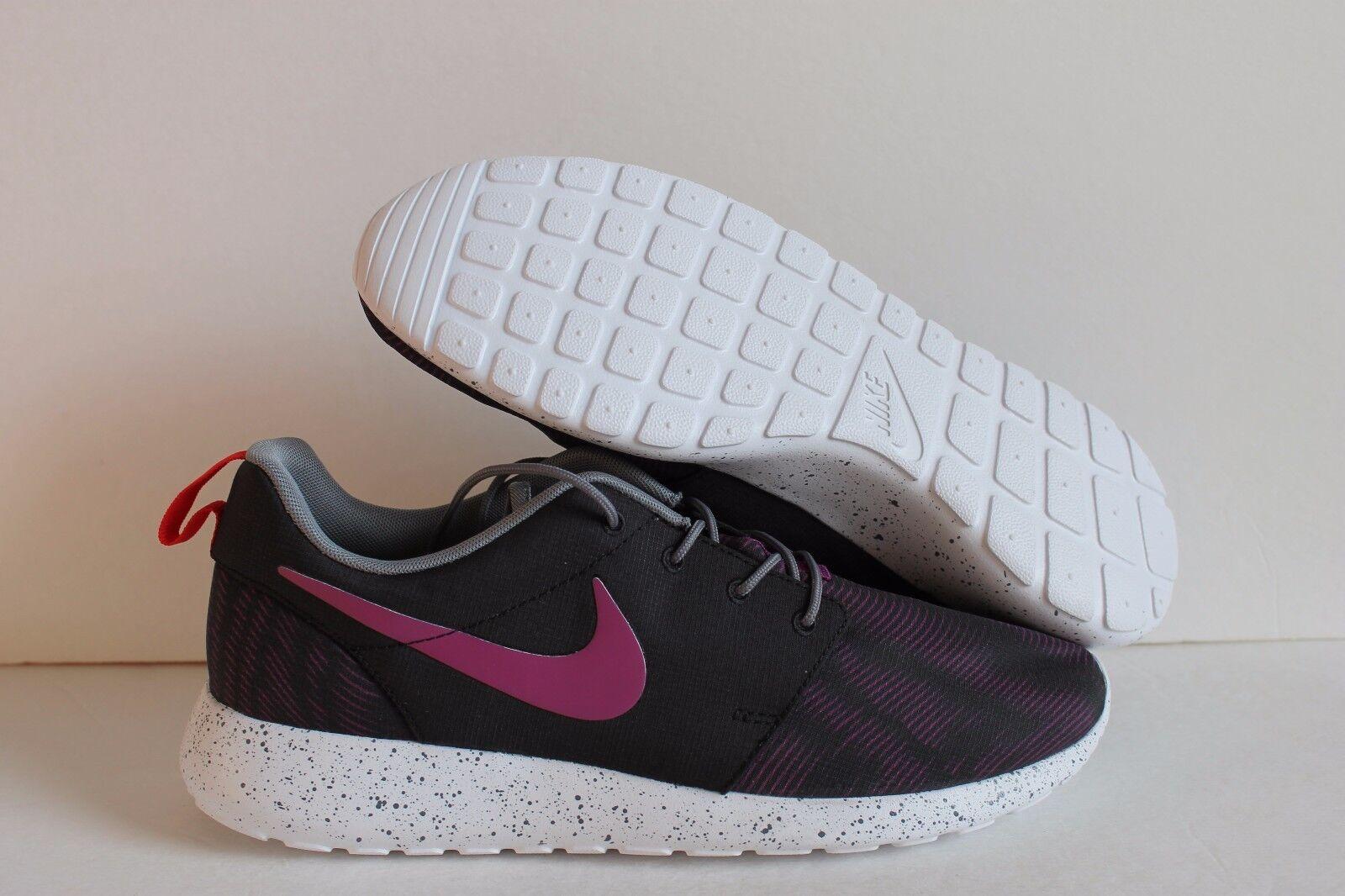 Nike uomini roshe correre id rosherun nero / viola / / bianco metallico sz 11 [704691-995]