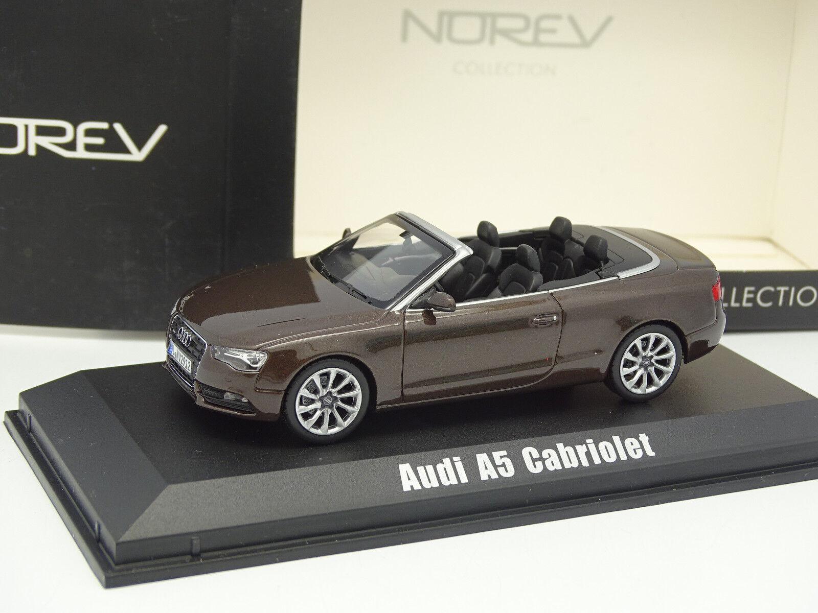 Norev 1 43 - Audi A5 Cabriolet Marron