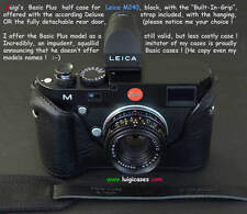 *LUIGI BLACK BASIC PLUS CASE+GRIP 4 LEICA MP240MM246,OTHER,DELUXE STRAP,SHIPPING