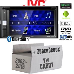 JVC Radio für VW Caddy 2K Bluetooth CD//DVD USB Android iPhone2DIN Auto Einbauset