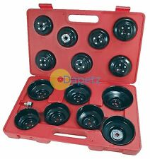 "16Pc 3/8"" Drive Cap Oil Filter Socket Wrench Set Cup Type Car Van Garage Tool"