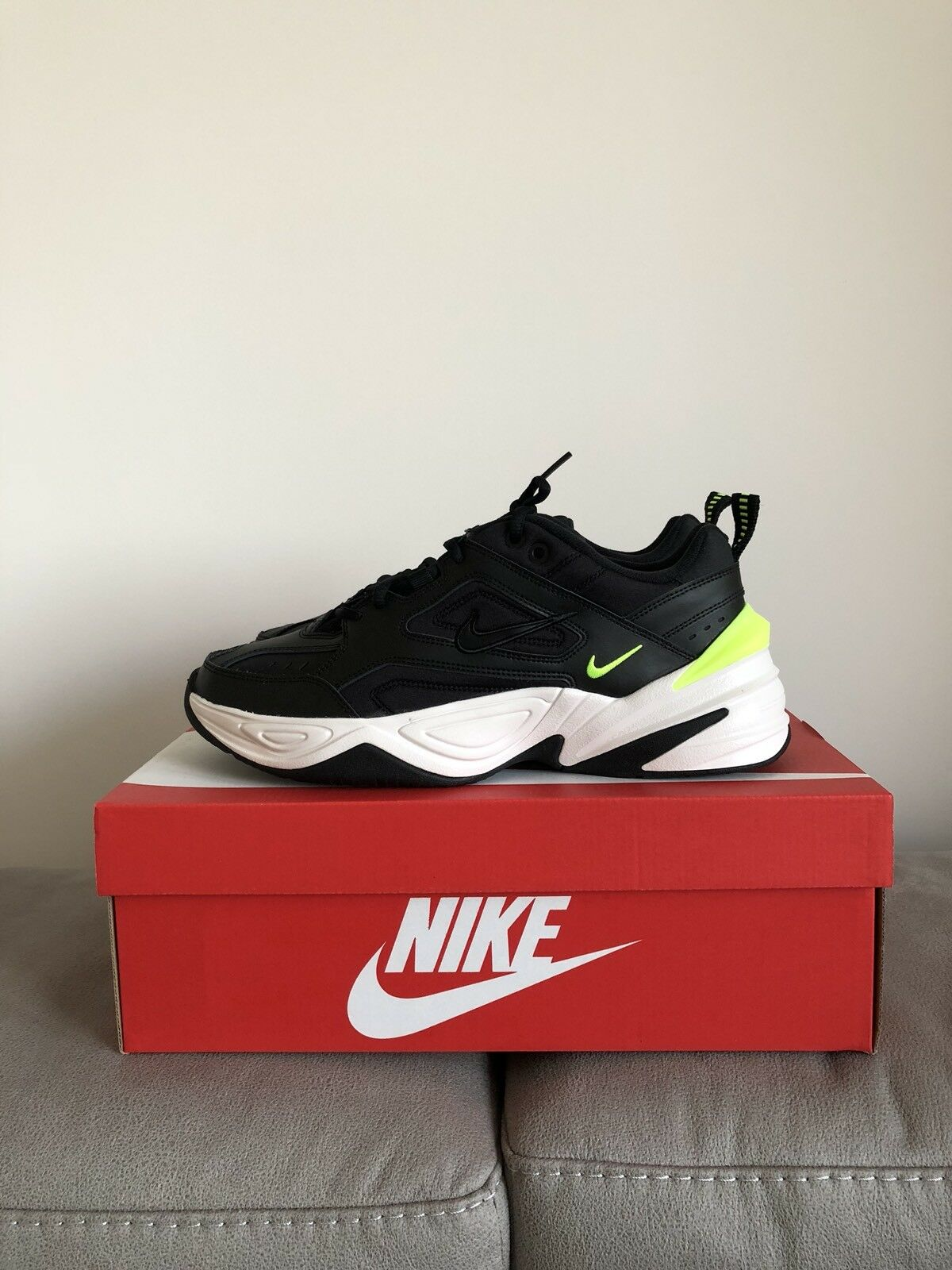 2018 Brand Authentic New Authentic Brand Nike MK2 TeknoNegro/Volt 36b429