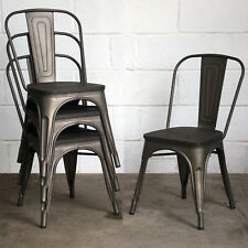 Item 4 Set Of Tolix Style Metal Bistro Chairs Cafe Kitchen Dining Rustic Vintage