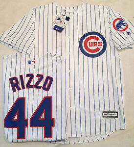 buy online 8e155 5e894 Details about ANTHONY RIZZO CHICAGO CUBS PINSTRIPE COOL BASE JERSEY  MAJESTIC PICK SIZE