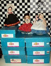 """TEN___Vintage 8"""" Madame Alexander Dolls Mint Cond 7 Boxes All Shoes w Working SE"""
