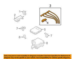 mazda oem 04 08 rx 8 ignition spark plug wire or set see image rh ebay com RX-8 Spark Plug Wire Diagram RX-8 Spark Plug Diagram T and L