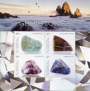 St Vincent & Grenadines 2018 Neuf Sans Charnière Pierres Précieuses Opale 4 V M/s I Minéraux Timbres Une Grande VariéTé De Marchandises