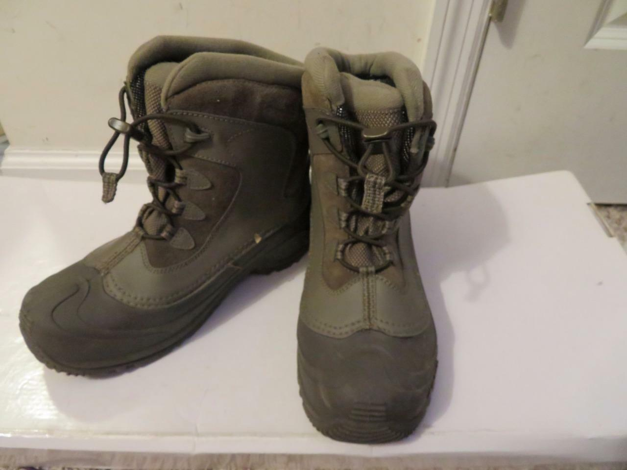 WOMENS COLUMBIA GRAY WATERPROOF BOOTS - SIZE 7