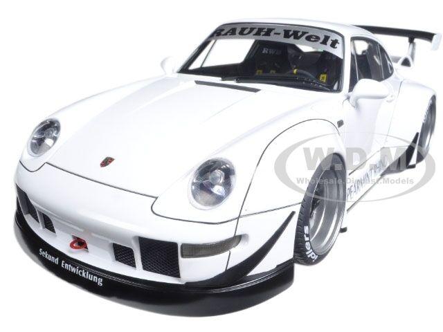 Porsche rwb 993 weiße   waffe graue räder 1   18 - modell - auto von autoart 78150