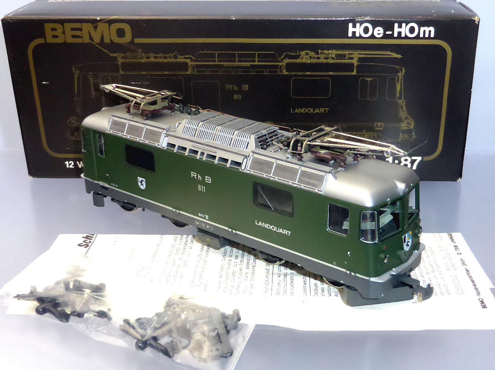 BEMO 1258 111; universallok RHB Ge 4 4 II 611 paese Quart, verde, in scatola originale h421