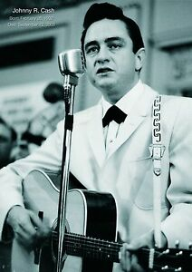 Image Is Loading Johnny Cash 2 Singer Black And White Vintage