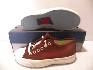 ac619e5f451e CONVERSE JACK PURCELL VINTAGE MADE IN USA MEN 3   WOMEN SZ 5 SHOES ...