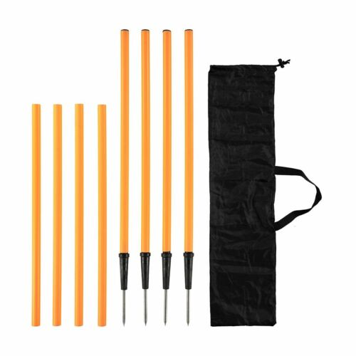 4 Pack Agility Training Poles Gym Fitness Resistance Workout Sport Slalom Soccer