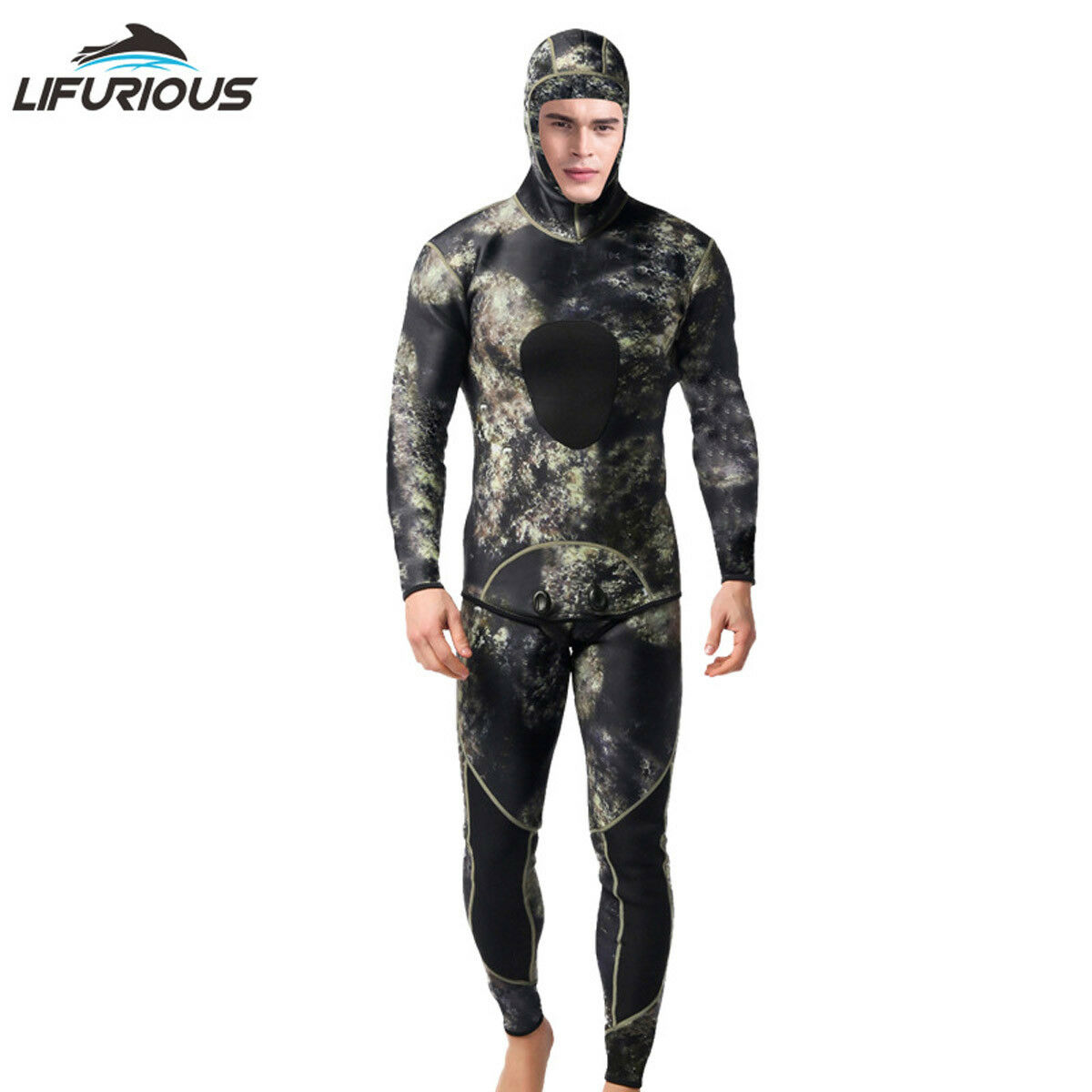 3MM Neoprene Scuba Diving Wetsuit Camouflage Thermal Sea Surfing Diver  Suit  hot limited edition
