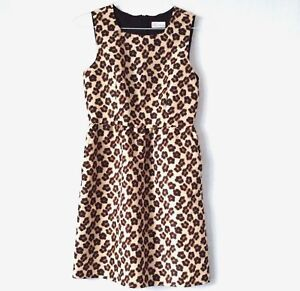 42 Sleeveless Valentino Xl Dress Sheath Size Print Red Animal Brown fpEqP6q