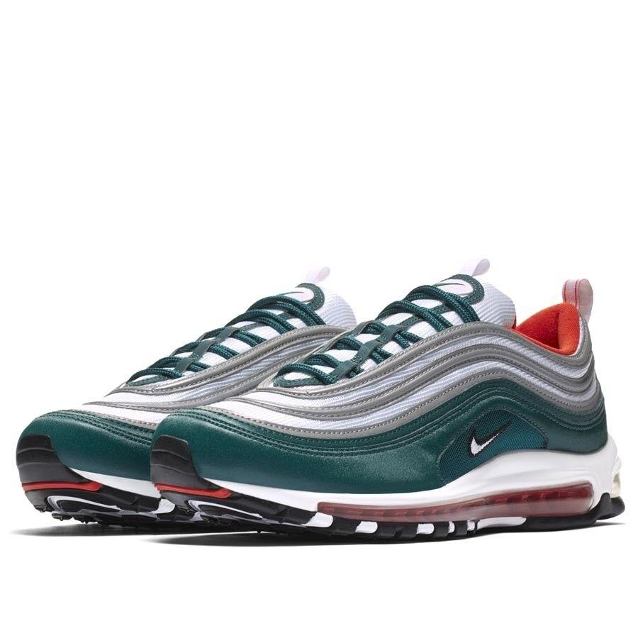 Nike air max 97 (foresta pluviale squadra arancione / bianco nero), scarpe da uomo 921826-300